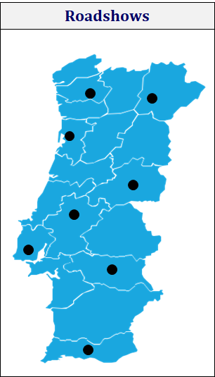 portugal roadshows map by markint